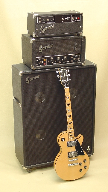Blonde Garnet LP shown with early '70's Herzog (G12H) BTO Amplifier Head (L260D) and BTO 4x12 Cab (BTO412)