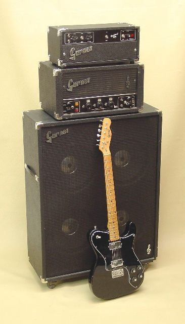 Garnet Tele shown with early '70's Herzog (G12H) BTO Amplifier Head (L260D) and BTO 4x12 Cab (BTO412)